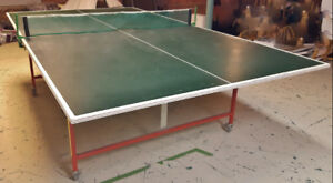 FULL SIZE FOLDING PING-PONG TABLE 18mm WITH NET, PADDLES & BALLS