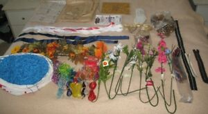 Craft items, flowers, pipe cleaners, patterns, zippers, more