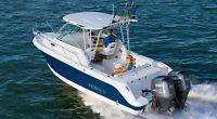 Robalo R245 Walkaround with Hardtop and twin 150HP Yamahas