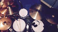 Drummer looking