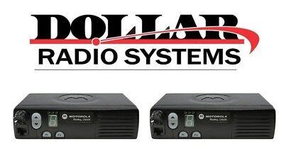 2 Lot Motorola Cm200 Radius Uhf 403-470 4ch 40watt Base Mobile Aam50rpc9aa1an