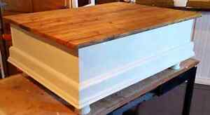 Custom Chest Style Coffee Table with Rustic Wood Top Peterborough Peterborough Area image 4
