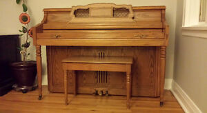 Solid Oak Wurlitzer Piano