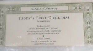 Teddy's First Christmas Limited Edition Kitchener / Waterloo Kitchener Area image 3
