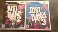 Just dance 2 and 3 for the wii