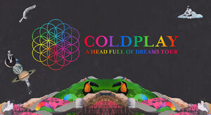 Coldplay A Head Full of Dreams Tour: Rogers Place; 2 Lower Seats