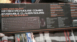 Wirelees/silent wireless keyboard n mouse