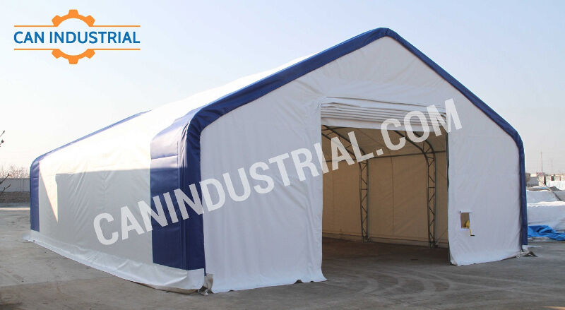 Industrial Temporary Shelters : Portable fabric buildings storage shelters temporary