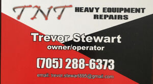Mobile heavy equipment repairs/mobile lubrication services