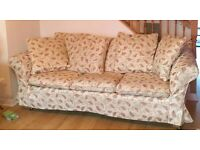 Three-Seater Sofa Bed | Floral Pattern | Beautiful