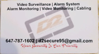 Security System and Camera Installation