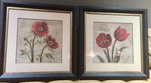 2 cadres de fleurs