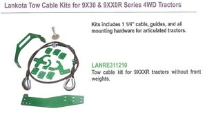 Cable tow kit for 9000R series JD tractors