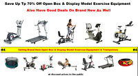 70% Off Over Stock,Open Box & Display Models Exercise Equipment