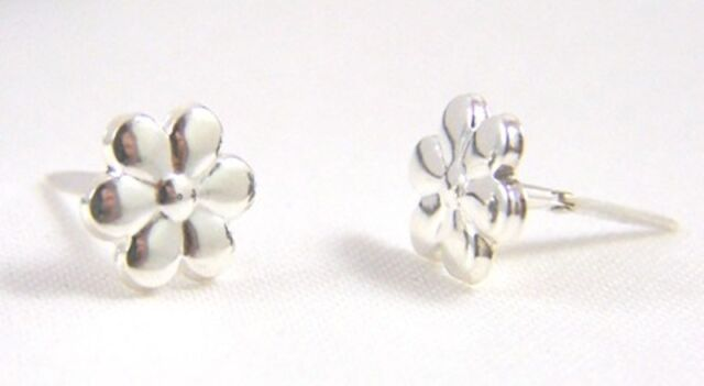Kids S 925 Sterling Silver Andralok Small Flower Studs Earrings B Day Gift N