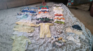 Huge lot NB to 6 month  baby clothes, supplies