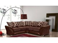 SHANNON SOFA IN DARK BROWN -- BRAND NEW CORNER SOFA OR 3 AND 2 SEATER SOFA SET -- CHEAPEST OFFER --