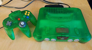 Jungle green N64 with controller and expansion