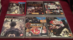 Lot Of Six 6 Playstation 3 Video Games