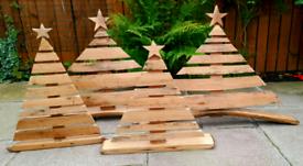 Recycled oak whisky barrel Christmas trees