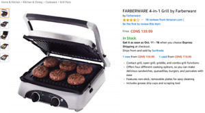 Brand New FARBERWARE 4-in-1 Grill by Farberware $95