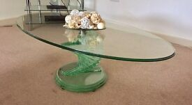 Ornate Glass Coffee Table