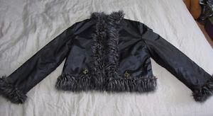 BABY PHAT Reversible Faux Fur Coat Medium