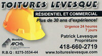 TOITURES LEVESQUE ESTIMATION GRATUITE 418-660-2719