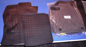 2 Sets Toyota Prius floor mats - Rubber Set & Carpet Set