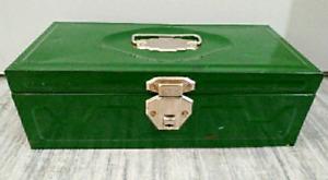 c.1940s INDUSTRIAL Union Steel METAL BOX Antique Vintage
