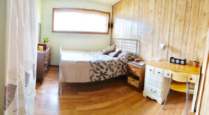 Bright room for rent in calm house in NW. $550 all incl.