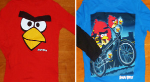 Boys 5 - Sears Long Sleeve Angry Birds Tees (2)