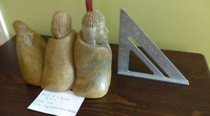 Inuit soap stone carving