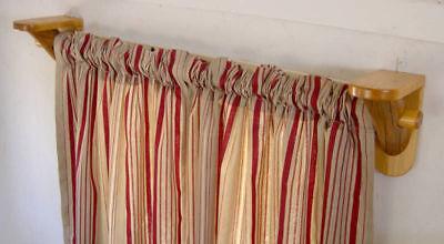 Curtain Rod Brackets - 1 pair - Log Cabin Decor - Rustic Window Treatment ()