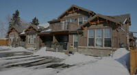 This is a top floor 2 bed unit--quiet building downtown Lacombe