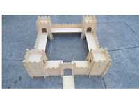 Wooden castle toy for child's play