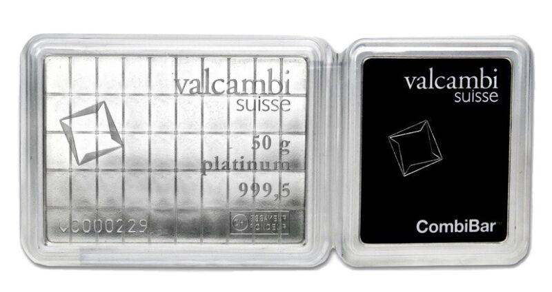 Platinum Valcambi Combibar 50 X 1 Gram Bars !!!
