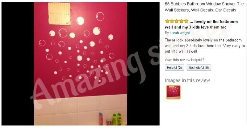 58 Bubbles Wall Bathroom Window Shower Tile Decorations Stickers Car Kids Decals
