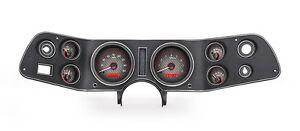 1970-81 Chevrolet Camaro Dakota Digital Carbon Fiber & Red VHX Analog Gauge Kit