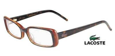 New Lacoste Rx Eyeglasses | L2612 214 - Havana / Clear Demo Lens