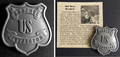 Brothel Inspector Badge, bordello, cat house, old west, western, us