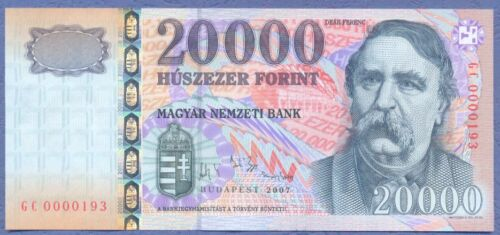 Hungary 20000 forint 2007 UNC Low number
