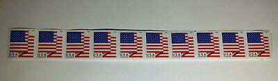 10 USPS Forever Stamps US Star Spangled Banner Flag 2018 Postage Coil Sheet USA!