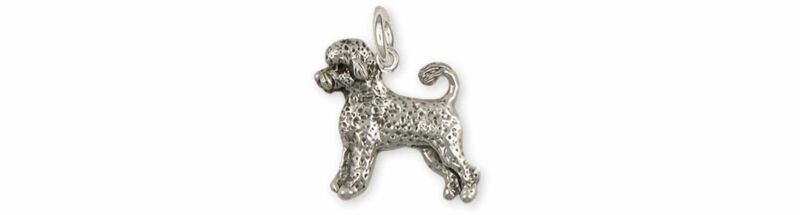 Portuguese Water Dog Jewelry Sterling Silver Handmade Portuguese Water Dog Charm