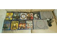 Playstation1 console & ps2 games bundle