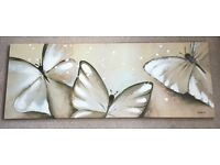 Butterfly painted canvas