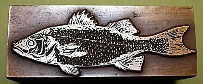 """SALMON"" FISH PRINTING BLOCK."
