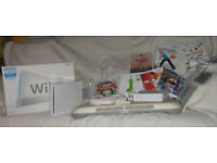 Nintendo Wii console, balance board and more