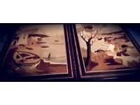 Italian Handmade Marquetry Pictures