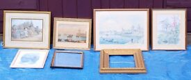 Collection of 7 medium picture frames